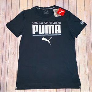 Puma mens black athletic tee regular fit Sz XL
